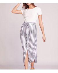 BB Dakota Stripe I Like Skirt - Blue