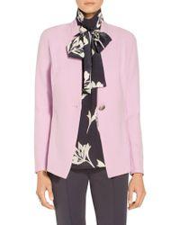 St. John - Sale Bella Double Weave Notch Collar Jacket - Lyst