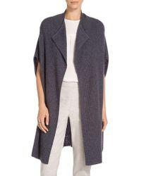 St. John - Sale Exclusive Jersey Rib Cashmere Knit Shawl Collar Cardigan - Lyst