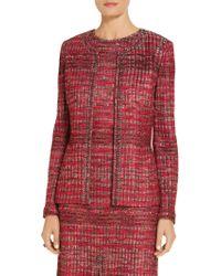 St. John - Ombre Shine Knit Jacket - Lyst