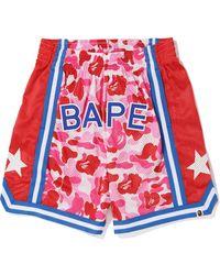 A Bathing Ape Abc Basketball Shorts - ピンク