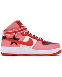Nike + Riccardo Tisci Air Force 1 Leather High-top Trainers - Purple
