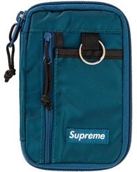 Supreme Small Zip Pouch Dark Teal - Blue