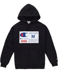 Supreme Champion Label Hooded Sweatshirt - ブラック