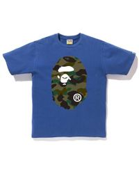7c543258 A Bathing Ape Xxv Cities Camo Ape Head Tee White/blue in Blue for Men - Lyst