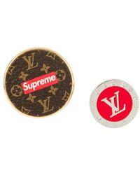 Supreme X Louis Vuitton City Badge Brooch Set - Red