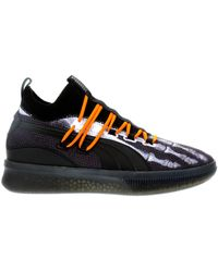 outlet store aa06e 63dfd PUMA Lace Clyde Court Disrupt in Black/Purple (Black) for ...