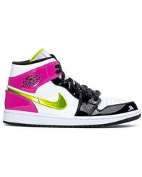 Nike - 1 Mid White Black Cyber Pink - Lyst