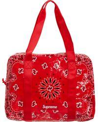 Supreme Bandana Tarp Small Duffle Bag - Red
