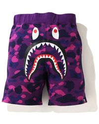 A Bathing Ape - Color Camo Shark Sweat Shorts (ss21) - Lyst