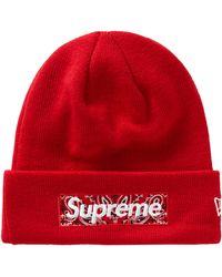 Supreme New Era Box Logo Beanie (fw19) - Red