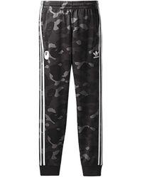 A Bathing Ape X Adidas Adicolor Track Pants - Black