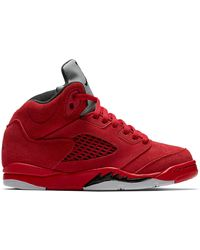 Nike 5 Retro Red Suede (ps) - レッド