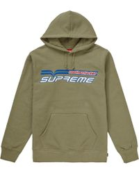 cafc7568 Supreme Champion Sherpa Lined Hooded Jacket Dark Green in Green for Men -  Lyst