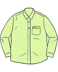 Supreme Stripe Oxford Shirt - グリーン