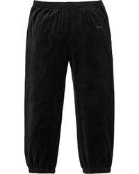 Supreme Velour Warm Up Pant - Black
