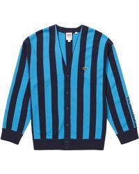Supreme Lacoste Stripe Cardigan - Blue