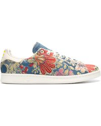 new arrival 32da1 d79c7 adidas Pw Stan Smith Jacquard Sneakers in Blue for Men - Lyst
