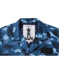 A Bathing Ape Gradation Camo Military Shirt Jacket - ブルー