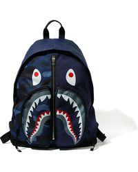 A Bathing Ape Color Camo Shark Day Pack (fw20) - Blue