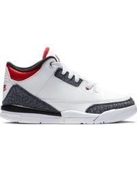 Nike 3 Retro Se-t Fire Red Denim (ps) - ホワイト