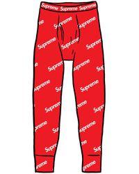 Supreme Hanes Thermal Pant (1 Pack) - レッド