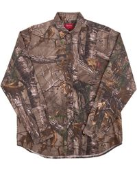 Supreme Realtree Camo Flannel Shirt - Brown
