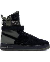 Nike Sf Air Force 1 High Camo - Black