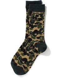 A Bathing Ape Abc Jacquard Socks Socks Green