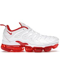 Nike - Air Vapormax Plus White Red - Lyst