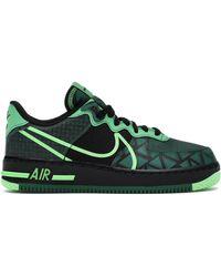 Nike Air Force 1 React ローカット スニーカー - グリーン