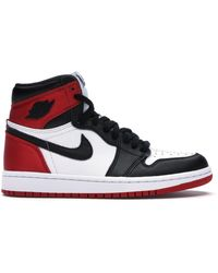 Nike 1 Retro High Satin Black Toe (w)