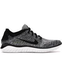 Nike Free Rn Flyknit 2018 Black White Ombre - ブラック