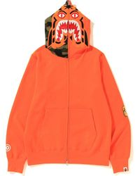 A Bathing Ape Tiger Full Zip Hoodie (ss19) - オレンジ