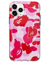 A Bathing Ape Abc Camo Iphone 11 Pro Case - Pink