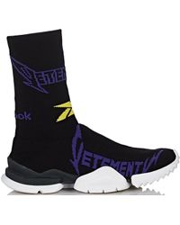 Reebok Sock Runner Vetements Black Yellow Purple