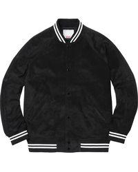 Supreme Suede Varsity Jacket - ブラック