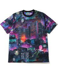 A Bathing Ape Neon Tokyo T-shirt - ブラック