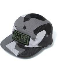 d79b00e95a14e A Bathing Ape Nyc Logo Denim Snapback Cap in Black for Men - Lyst