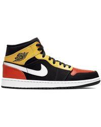 Nike - 1 Mid Black Amarillo Orange - Lyst