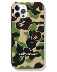 A Bathing Ape Abc Camo Iphone 12 Pro Max Case - Green