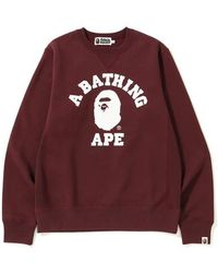 8bee2abcc55f9 A Bathing Ape X F.c.r.b. College Crewneck Navy in Blue for Men ...