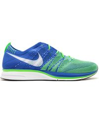 Nike - Flyknit Trainer+ Varsity Royal Electric Green - Lyst