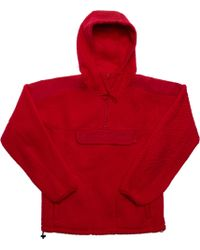 7715c7f2 Supreme Polartec Hooded Sweatshirt (fw18) Red in Red for Men - Lyst