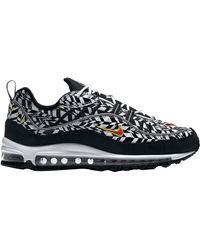 Nike Air Max 98 Aop Shoes - Size 8.5 - Black