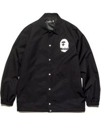 e4c00b10db1c Lyst - A Bathing Ape Bape Coach Jacket in Black for Men