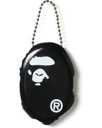 A Bathing Ape Ape Head Coin Pouch - Black