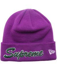 Lyst - Carhartt Watch Beanie Hat Purple in Purple for Men e9f834becafa