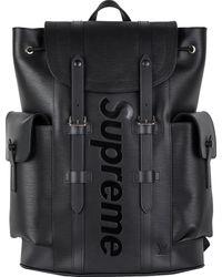 Supreme Louis Vuitton X Christopher Backpack Epi Pm Black