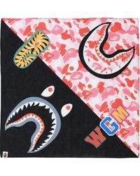 A Bathing Ape Abc Shark Bandana - Pink